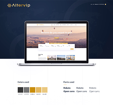 Altervip-Website design
