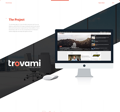 Trovami Editorial – Website design